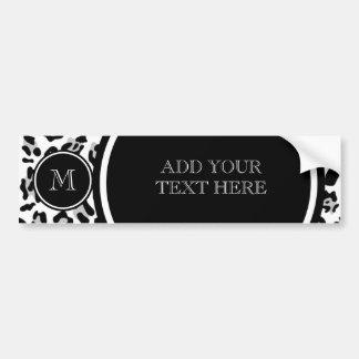 Autocollant De Voiture Poster de animal noir gris de léopard avec le