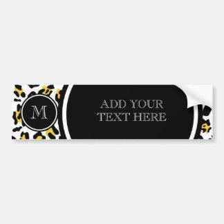 Autocollant De Voiture Poster de animal noir jaune de léopard avec le