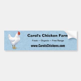 Autocollant De Voiture Poule de poulet de leghorn blanche