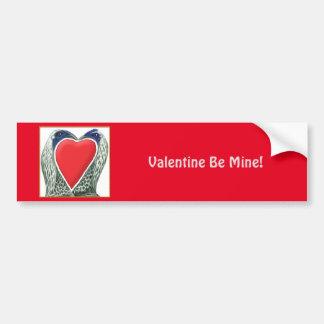 Autocollant De Voiture Poulets de jeu de Valentine