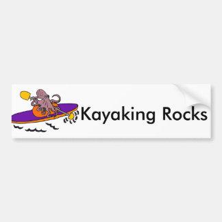 Autocollant De Voiture Poulpe pourpre drôle Kayaking