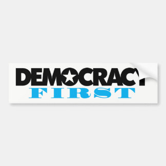 Autocollant De Voiture Premier adhésif pour pare-chocs de démocratie