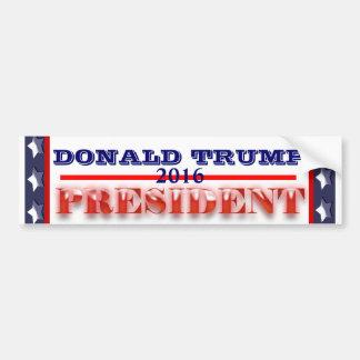 Autocollant De Voiture Président 2016 de Donald Trump