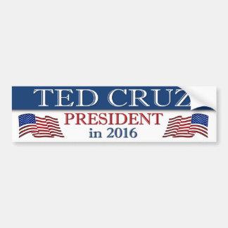 Autocollant De Voiture Président 2016 de Ted Cruz patriote