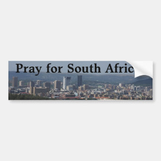 Autocollant De Voiture Priez pour l'Afrique du Sud