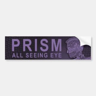 Autocollant De Voiture PRISME - tout l'oeil voyant - pourpre