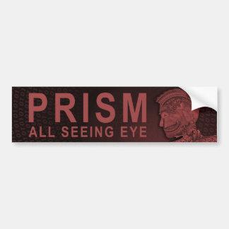 Autocollant De Voiture PRISME - tout l'oeil voyant - rouge