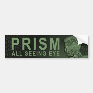Autocollant De Voiture PRISME - tout l'oeil voyant - vert