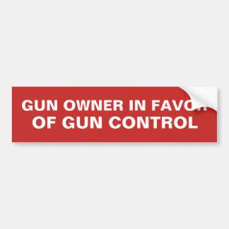 Autocollant De Voiture Propriétaire d'arme à feu en faveur de contrôle
