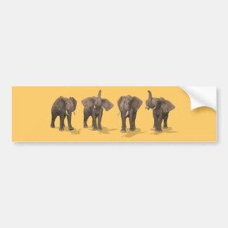 Autocollant De Voiture Quartet d'éléphants