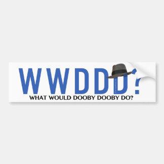 Autocollant De Voiture Que Dooby Dooby ferait-il ?