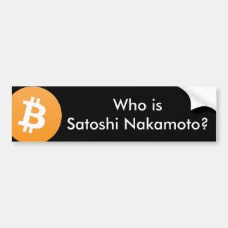 Autocollant De Voiture Qui est Satoshi Nakamoto ? Adhésif pour pare-chocs