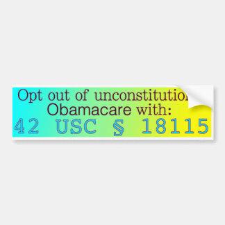 Autocollant De Voiture Quittez Obamacare