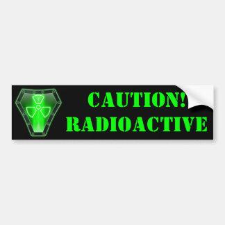 Autocollant De Voiture Radioactif