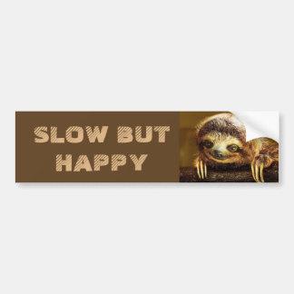 Autocollant De Voiture Ralentissez mais paresse heureuse