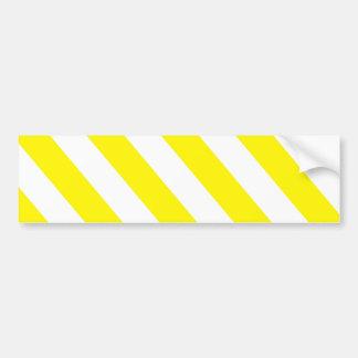Autocollant De Voiture Rayures d'avertissement blanches jaunes