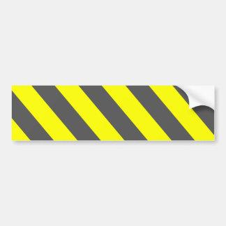Autocollant De Voiture Rayures d'avertissement grises jaunes