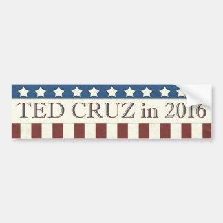 Autocollant De Voiture Rayures de président 2016 étoiles de Ted Cruz