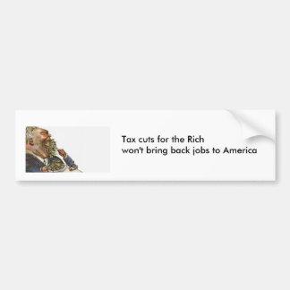 Autocollant De Voiture Réductions des impôts pour les riches