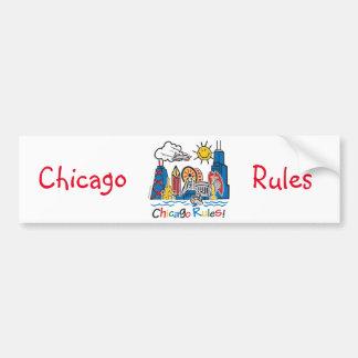 Autocollant De Voiture Règles de Chicago