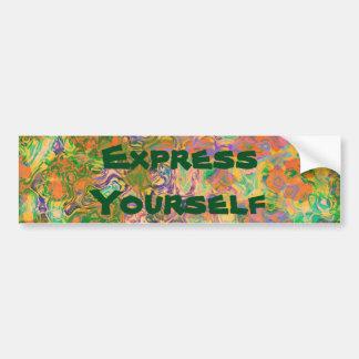 Autocollant De Voiture Remous de peinture de l'express vous-même