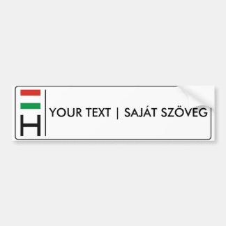 Autocollant De Voiture Rendszámtábla magyar hongrois de la plaque