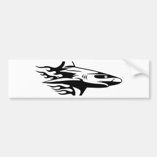 Autocollant De Voiture Requin en flammes