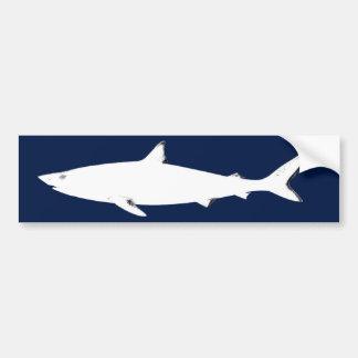 Autocollant De Voiture requin sauvage blanc