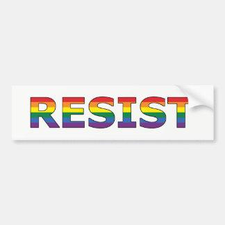 AUTOCOLLANT DE VOITURE RÉSISTEZ - À LGBT