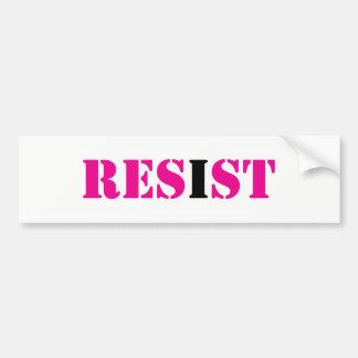 Autocollant De Voiture RÉSISTEZ ; I mouvement de Résister-Résistance