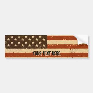 Autocollant De Voiture Rétro drapeau américain grunge