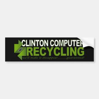 Autocollant De Voiture Réutilisation d'ordinateur de Clinton