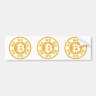 Autocollant De Voiture Révolution de Bitcoin (version chinoise)