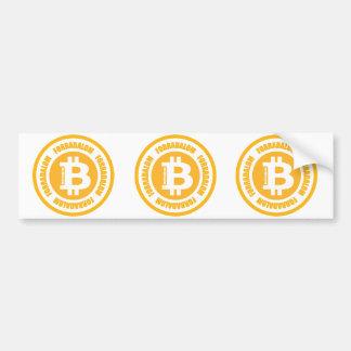 Autocollant De Voiture Révolution de Bitcoin (version hongroise)