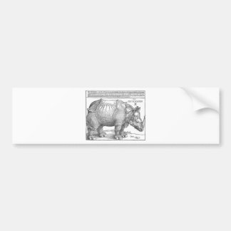 Autocollant De Voiture Rhinocéros par Albrecht Durer