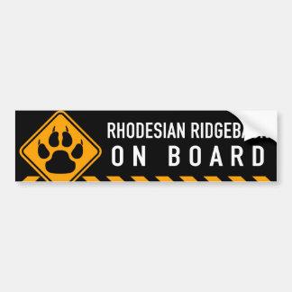 Autocollant De Voiture Rhodesian Ridgeback à bord