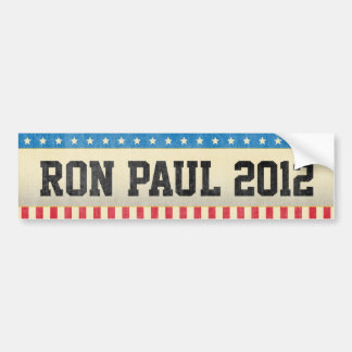 Autocollant De Voiture Ron Paul 2012