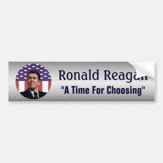 Autocollant De Voiture Ronald Reagan un moment pour le choix