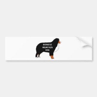 Autocollant De Voiture Rouille de silhouette de nom de chien de montagne