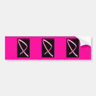 Autocollant De Voiture Ruban de rose de conscience de cancer du sein