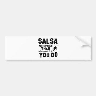 Autocollant De Voiture Salsa plus impressionnant