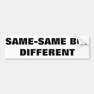AUTOCOLLANT DE VOITURE SAME-SAME MAIS DIFFÉRENT