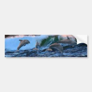 Autocollant De Voiture Saut des dauphins
