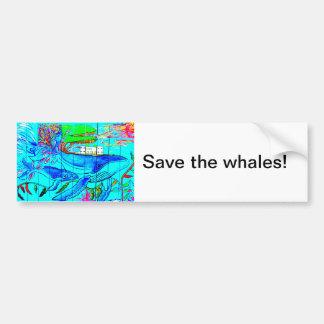 Autocollant De Voiture sauvez l'adhésif pour pare-chocs de baleines