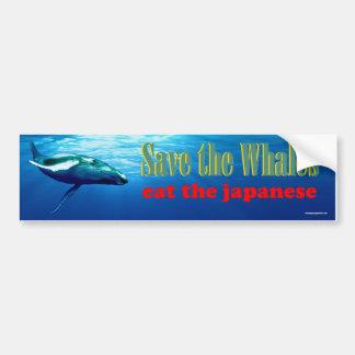 Autocollant De Voiture sauvez les baleines…