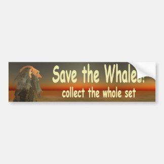 Autocollant De Voiture sauvez les baleines