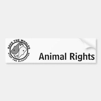 Autocollant De Voiture Sauvez les baleines - droits des animaux