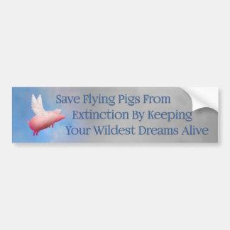 Autocollant De Voiture Sauvez les porcs de vol