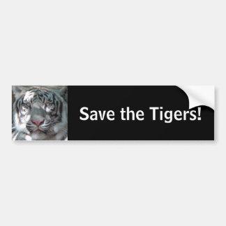 Autocollant De Voiture Sauvez les tigres