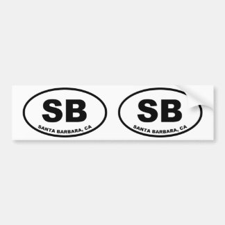 Autocollant De Voiture SB de Santa Barbara